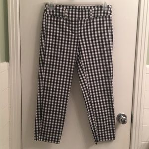 Gingham Ann Taylor Factory Cropped Pants